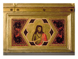 John the Baptist, from the Coronation of the Virgin Polyptych (Middle Left Predella) Giclee Print by  Giotto di Bondone