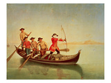 The Duck Hunt Giclee Print by Pietro Longhi