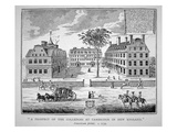 Harvard College, Cambridge, Massachusetts C.1739 (Litho) Giclee Print by  American