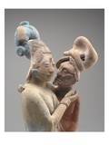 Embracing Couple (Terracotta with Pigments) (See also 323290) Giclee Print by  Mayan
