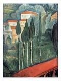 Landscape, South of France, 1919 Premium Giclée-tryk af Amedeo Modigliani