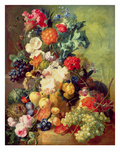 Still Life with Flowers and Fruit Giclee Print by Jan van Os