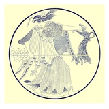 Maenad, Illustration from 'Greek Vase Paintings' by J. E. Harrison and D. S. Maccoll Published 1894 Giclee Print by  English