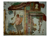 Mural from a Villa Near Narbonne, 1st - 3rd Century Ad (Wall Painting) Giclee Print by  Gallo-Roman
