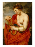 Hygeia, Goddess of Health, C.1615 (Oil on Oak Panel) Giclée-Druck von Peter Paul Rubens