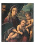 Madonna and Child with the Young St. John the Baptist (Panel) Giclee Print by Niccolo Pisano