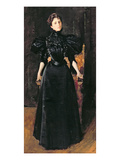 Portrait of a Lady in Black, C.1895 (Oil on Canvas) Giclee Print by William Merritt Chase