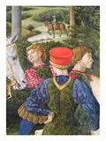 Liveried Attendants, Detail from the Journey of the Magi Cycle in the Chapel, C.1460 (Fresco) Giclee Print by Benozzo di Lese di Sandro Gozzoli
