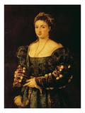 Portrait of a Woman, Called La Bella Giclée-tryk af  Titian (Tiziano Vecelli)