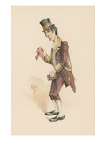 Job Trotter, Illustration from 'Character Sketches from Charles Dickens', C.1890 (Colour Litho) Giclee Print by Joseph Clayton Clarke