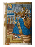 Livre D&#39;Or, with a King Kneeling in Prayer. C.1500 (Vellum) Giclee Print by Germain Hardouin