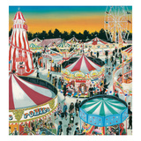 The Fair (Gouache on Paper) Giclee Print by Clive Uptton