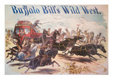 Poster for Buffalo Bill's Wild West Show, C.1885 (Colour Litho) Giclee Print by  American
