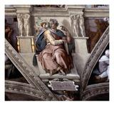 The Prophet Isaiah, Sistene Chapel Ceiling (Fresco) Giclee Print by  Michelangelo Buonarroti