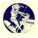 The Death of Troilos, Illustration from 'Greek Vase Paintings' Giclee Print by  English