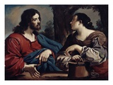 Christ and the Woman of Samaria, C.1620 (Oil on Canvas) Giclee Print by  Guercino