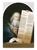 Moses and the Ten Commandments Giclee Print by  Kuhn
