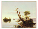 American Lake Scene, 1844 Giclee Print by Thomas Cole