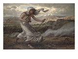 The Cumaean Sibyl, 1876 Giclee Print by Elihu Vedder