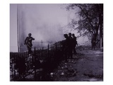 German Troops Close in on the Birtish Near the Bridge at Arnhem, Battle of Arnhem, 1944 (B/W Photo) Giclee Print by  English