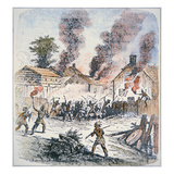 Nipmuc Indians Attack the Settlement of Brookfield, Massachusetts in August 1675 Giclee Print by  English