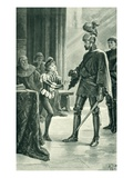Admiral Sir Andrew Wood and James IV, Illustration from 'A History of the Scottish People' Giclee Print by Alfred Pearse