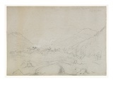 Adirondacks Iron Works, 1846 (Graphite Pencil on Wove Paper) Giclee Print by Thomas Cole