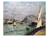 The Port of Le Havre, Normandy, 1905 Giclee Print by Maxime Emile Louis Maufra