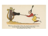There Was a Young Lady of Tyre, Who Swept the Loud Chords of a Lyre Giclee Print by Edward Lear