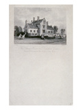 The School House on Dunsfold Green, Surrey, 1850 (Steel Line Engraving) Giclee Print by Thomas Allom