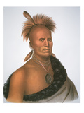 Chief Sharitarish, 1821 (Colour Litho) Reproduction procédé giclée par Charles Bird King
