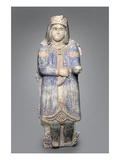 Figure of a Courtier from a Palace Frieze, Seljuk Dynasty, 1150/1250 (Painted Stucco) Giclee Print by  Persian