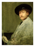 Arrangement in Grey: Portrait of the Painter, C.1872 (Oil on Canvas) Giclee Print by James Abbott McNeill Whistler