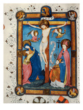 Crucifixion, Illustration from the Missal of Master Pancratino, C. 1430 (Vellum) Premium Giclee Print by  Italian