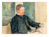 Portrait of Alexander J. Cassatt, c.1880 Premium Giclee Print by Mary Cassatt