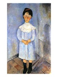 Girl in Blue, 1918 (Oil on Canvas) Reproduction proc&#233;d&#233; gicl&#233;e par Amedeo Modigliani