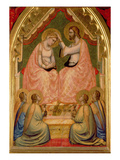The Coronation of the Virgin Polyptych (Centre Panel) (See also 66540-66551) Giclee Print by Ambrogio Bondone Giotto