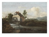 Landscape with a Watermill, C.1680 (Oil on Canvas) Giclee Print by Jacob Isaaksz. Or Isaacksz. Van Ruisdael