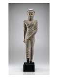 Figure of Pakhom, 50/30 BC (Grey Granite) Giclee Print by  Egyptian Ptolemaic Period