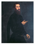 Portrait of a Man Giclée-tryk af Domenico Tintoretto