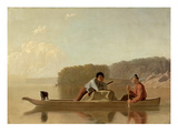 The Trapper's Return, 1851 Premium Giclee Print by George Caleb Bingham
