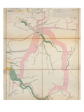 Map Representing the Approximate Tonnage of Wines and Spirits in Circulation in France in 1857 Premium Giclee Print by Charles Joseph Minard