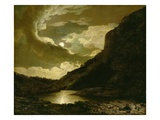 Matlock Tor by Moonlight, C.1778 (Oil on Canvas) Giclee Print by Joseph Wright Of Derby