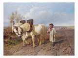 The Harrowing Team Giclee Print by John Frederick Herring Snr
