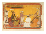 ]7.110/359 Gosain Narayan Takes Poison in the Presence of Emperor Jahangir, Nurpur, Pahari School Giclee Print by  Indian