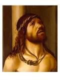 Christ at the Column (Oil on Canvas Transferred from Panel) Giclee Print by  Antonio de Saliba