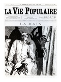 The Hand, Front Cover of 'La Vie Populaire', 1885 (Litho) Giclee Print by Francois Edouard Zier