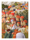 Faces in the Procession, Detail from the Journey of the Magi Cycle in the Chapel, C.1460 Giclee Print by Benozzo di Lese di Sandro Gozzoli