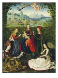 The Virgin of the Rose Garden, 1475-80 (Oil on Panel) Giclee Print by  Master of the St. Lucy legend