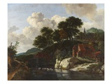 Hilly Landscape with a Watermill, c.1670 Premium Giclee Print by Jacob Isaaksz. Or Isaacksz. Van Ruisdael
